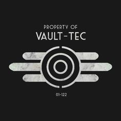 Awesome 'Property+Of+Vault-Tec' design on TeePublic! Fallout Posters, Fallout Props, Fallout Art, Fallout New Vegas, Fallout Tattoo, Fallout Cosplay, Bioshock Cosplay, Fallout Wallpaper, Apocalypse