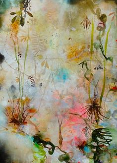 """Art by Deedra Ludwig -- SoDelicate; 2014 - 2015; oil & mixed media on canvas; 48"""" x 35"""" [LUD 202]"""