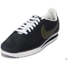 Shoes Dark Black Men Nike Cortez Oxford Cloth