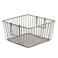 square wire basket / $15 timeless settings