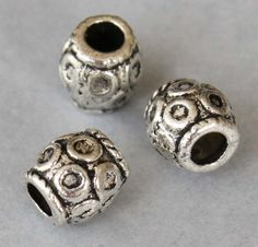 15 TIBETAN Style Barrel Beads  6x5mm Antiqued by MichouBeads, $2.50