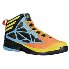 adidas Crazy Fast - Men's Joy Blue/Orange/Vivid Yellow/Black | Width - D - Medium