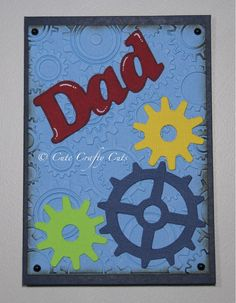 Handmade Steam Punk Card for Dad made by Cute Crafty Cuts