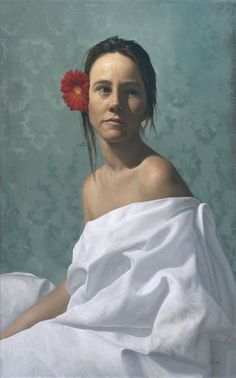 The Girl with the Red Flower by Arantzazu Martinez