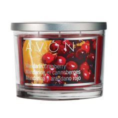 "Notes of red berries, mandarin, spruce, cedar wood and amber. Wax candle in 11 oz. glass jar with brushed metal cover. <br><br>3 1/4""H x 3 6/4 diameter. 3 wicks; 30-hour burn time. Made in USA.<br><br> Never leave burning candle unattended. Keep out of reach of children."