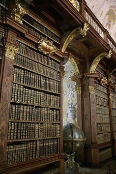 Library at Melk Abbey, Austria by KonradS.