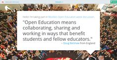Open Education means collaborating, sharing and working in ways that benefit students and fellow educators. Education Week, Benefit, Thimble, Learning, Students, Studying, Teaching, Onderwijs