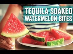 Let's Make: Tequila Spiked Watermelon Tequila Soaked Watermelon, Drunken Watermelon, Watermelon Shots, Spiked Watermelon, Watermelon Margarita, Watermelon Slices, Margaritaville Party Ideas, Delicious Desserts, Dessert Recipes