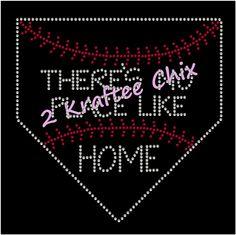 Baseball Rhinestone Shirts, Baseball Bling Shirts, Baseball Rhinestone Tshirts, Baseball Bling Tshirts, There's No Place Like Home Shirt by 2KrafteeChix on Etsy