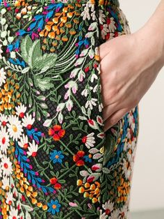 Valentino - embroidered skirt
