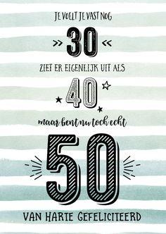 verjaardagswensen 50