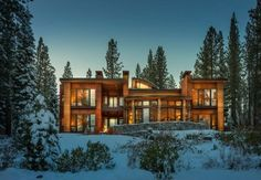 Contemporary Refuge Overlooking Lake Taho: Martis Camp House