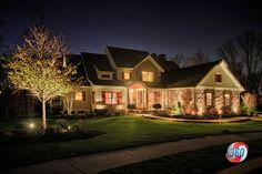 Low Voltage Lighting Outside Lighting Ideas, Backyard Lighting, Exterior House Lights, Exterior Lighting, Landscape Lighting Design, Kitchen Lighting Design, House Eaves, Dutch Colonial Exterior, Low Voltage Outdoor Lighting