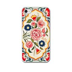 Vintage Tea Tin, iPhone 5 4 4s Case, Cell Phone Case, Vintage Tin Floral Pink Paisley, Colorful,  Accessory  iPhone on Etsy, $30.00