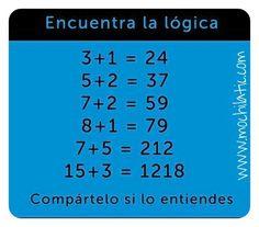 Acertijo de #lógica. #matematicas Periodic Table, Diagram, Riddles, Periodic Table Chart, Periotic Table