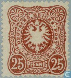 1880 German Empire - Eagle and Mark Rich, Penny German Confederation, German Stamps, Wwi, World War Two, Postage Stamps, Empire, Two By Two, Eagle, Germany