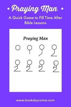 Praying man is a fun game that can be used to reinforce Sunday school lessons, Bible lessons, and other Christian concepts.