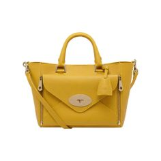 56dec7c91773 Mulberry Rainbow - Small Willow Tote in Golden Yellow Grainy Calf
