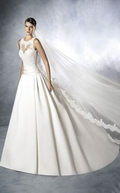 Looking to rent or buy designer bridal gowns and lace wedding dresses in Singapore . Blessed Brides carries Pronovias White one and La Sposa Collections. Scoop Wedding Dress, Princess Wedding Dresses, Tulle Wedding, Wedding Dress Styles, One Shoulder Wedding Dress, Bluebell Bridal, Vegas Dresses, Designer Wedding Gowns, Bridal Gowns