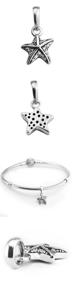 Genuine FANDOLA Tropical Starfish Silver Beads DIY Fits Bracelet Charms 100% 925 Sterling-Silver-Jewelry Beads for Women FL578