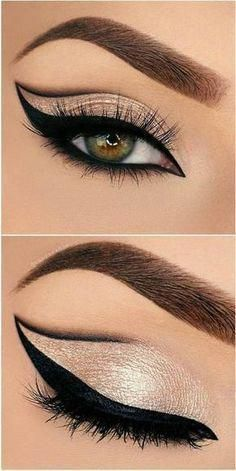 Eyeliner Models Beautiful eye make-up for impressive looks - . - Eyeliner Models Beautiful eye make-up for impressive looks – make up - Eyeliner Hacks, Makeup Hacks, Makeup Goals, Makeup Inspo, Makeup Inspiration, Eyeliner Makeup, Makeup Tutorials, Eye Brows, Eyeliner Styles