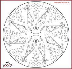 Mandala di carnevale da stampare e colorare   Genitorialmente