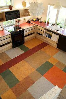 Marmoleum flooring for the kitchen