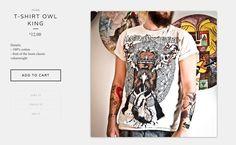 #T-Shirt Owl King http://www.sixdaysofmay.bigcartel.com/cart