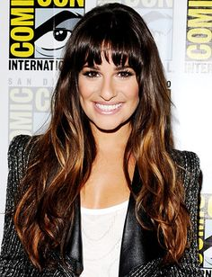 Comic-Con 2012 - Lea Michele - rich gold highlight