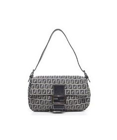 3117159cd9aa FendiPre-Owned Fendi Navy Zucchino Baguette Bag. Transcend Fine Jewellery · Designer  Bags ...