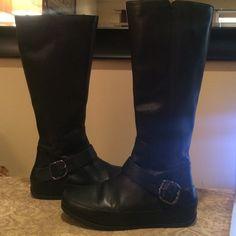 9ef03f133de2 Fit Flop boots Black Fit Flop tall boots