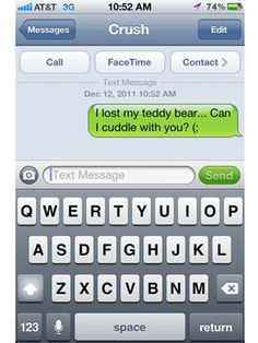 Witty texts to send to a guy