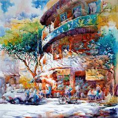 international watercolor society | Singapore Watercolor Paintings by Ng Woon Lam NWS AWS 黄运南 ...