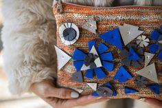 Pochettemidi pochette in maglia con decorazioni in di Intero