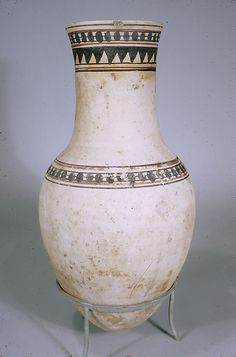 Jar from the Burial of the Child Amenhotep    Period:      New Kingdom  Dynasty:      Dynasty 18  Reign:      Joint reign of Hatshepsut and Thutmose III  Date:      ca. 1473–1458 B.C