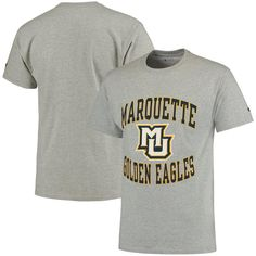 2033212bc44 Marquette Golden Eagles Champion Tradition T-Shirt - Gray