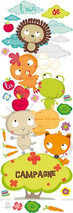 Sticker enfants toise - L'air de la campagne par Bérengère design - L'AIR DE LA CAMPAGNE