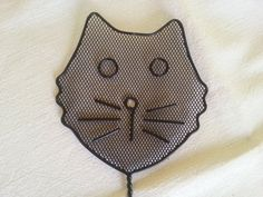 vintage Fly Swatter unique CAT shaped Fly swat Gift by 2Crafty4You at etsy.com