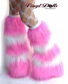 Sparkle Rave Fluffies Leg warmers in Candy Pink and White. Who wants to buy me this?
