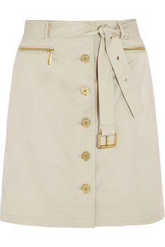 MICHAEL Michael KorsBelted stretch-cotton skirt