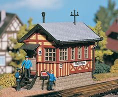 Black Forest® Hobby Supply Co - CROSSING SHED KIT 770-5730 - HO SCALE, $25.49 (http://www.blackforesthobby.com/crossing-shed-kit-770-5730/)