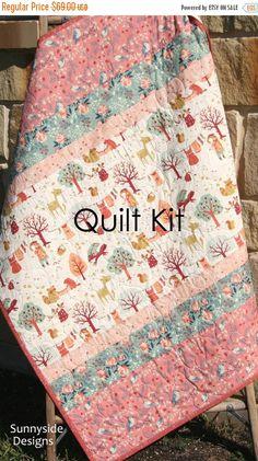 Woodland Baby Quilt Kit DIY Project Forest by SunnysideFabrics