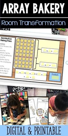 Aug 17, 2020 - Welcome to The Array Bakery! This activity pack includes7 hands-on, arrays activities for students help reinforce arrays, the commutative property, the distributive property, fact families, and problem solving. Great hands on/engaging support for programs like Engage NY and Eureka Math. ***NOW INC... 2nd Grade Math, Third Grade, Grade 2, Multiplication Activities, Classroom Activities, Commutative Property, Math Fact Practice, Engage Ny, Teaching Math