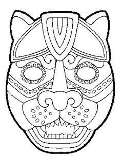 MAYAS MARSK  MASQUES MAYAS  Caretas MAYAS para disfraces infantiles. Máscaras para niños