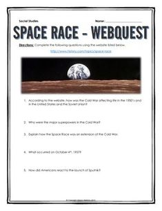 space race timeline and newspaper project lesson space race cold war space race webquest key
