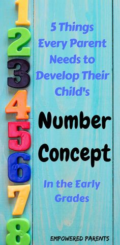 Develop your child's number concept in the early grades with these basic resources #helpmychildwithmaths #numbersense #numberconcept #empoweredparents