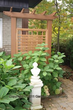 Pergola Ideas For Patio Info: 6031756040 Garden Privacy, Privacy Fences, Garden Trellis, Garden Fencing, Garden Landscaping, Privacy Trellis, Privacy Screens, Wood Fences, Landscaping Ideas