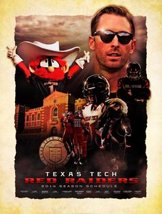 Alternate schedule poster I designed for Texas Tech.