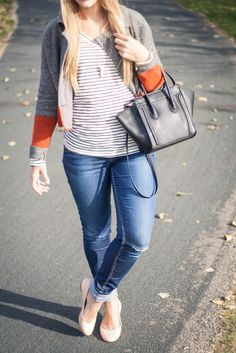 Easy Fall Look with Stripes