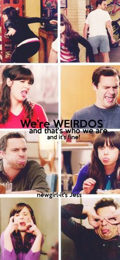 Nick Miller and Jessica Day Jessica Day, Nick Miller, Charlie Chaplin, New Girl Nick And Jess, Couple Instagram Captions, Couple Caption, Jake Johnson, Film Serie, Comedy Series